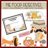 The Food Group Detectives Certificates and Class Crowns