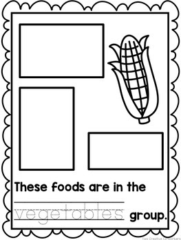 The Food Groups {Printable worksheets, mini book, & posters}