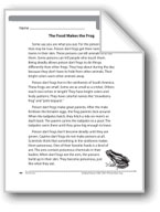 The Food Makes the Frog (Nonfiction)