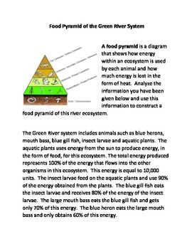 The Food Pyramid of the Green River