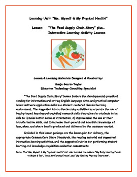 """The Food Supply Chain Story"" plus Interactive Learning Materials"