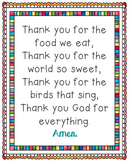 The Food We Eat Poster. Prayer, Grace, Blessings, Meals, S
