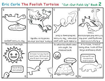 The Foolish Tortoise by Eric Carle Cut-Out Fold-Up Book