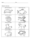 The Foolish Turtle Following Directions Worksheet
