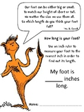 The Foot Book Measuring Activity