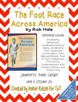 The Foot Race Across America Mini Pack 3rd Grade Journeys Unit 6, Lesson 26