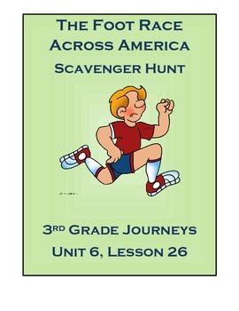 The Foot Race Across America Scavenger Hunt (Journeys, Grade 3) Unit 6 Lesson 26