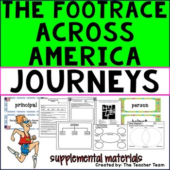 The Foot Race Across America Journeys 3rd Grade Unit 6 Lesson 26 Activities