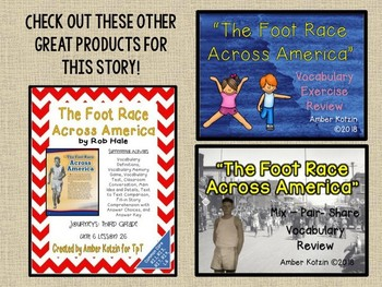 The Foot Race Across America: Virtual Evidence Bag Journeys 3rd Grade Lesson 26