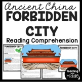 Forbidden City Reading Comprehension Informational Worksheet Ancient China