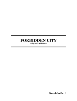 The Forbidden City by William Bell Novel Guide