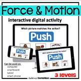 The Force & Motion interactive digital activity (distance