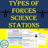 Hands-On Types of Forces Lab Learning Stations or Centers