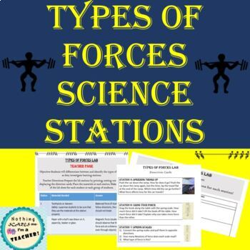 Types of Forces Lab Activity or Science Centers