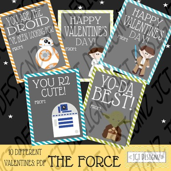 The Force inspired Star Wars Valentines, bb8 valentine, star wars valentines