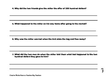 The Force of Luck by Rudolfo Anaya - Story Questions and Answer Key