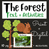The Forest: Early Reader #8 using Fry's 1st 100 Words