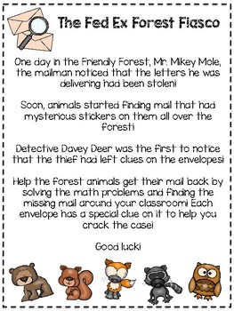 The Forest Fiasco (A Fun 10 More, 10 Less Review Activity)