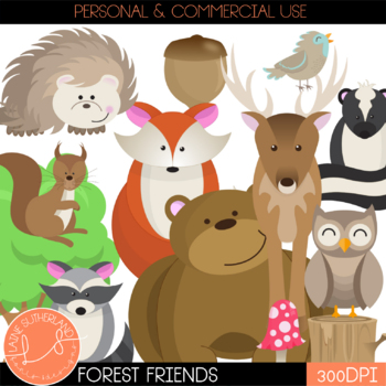 The Forest Friends Clip Art Collection