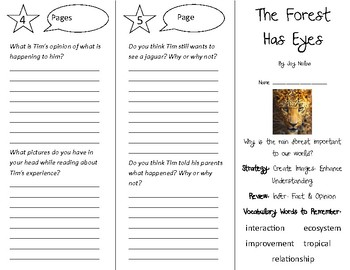 The Forest Has Eyes Trifold - 4th Grade Literacy by Design Theme 12