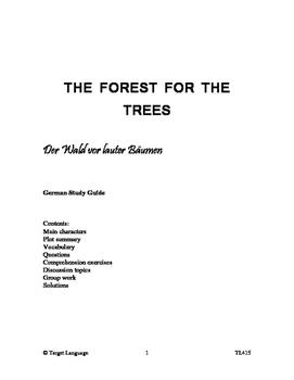 The Forest for the Trees-German Study Guide