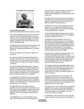 The Forgotten Story of Ota Benga (Includes Audio Link)