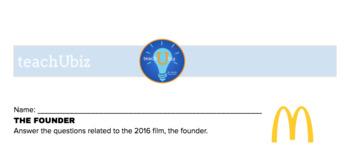 The Founder, 2016 Film Reflective Worksheet