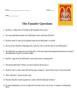 The Founder Movie Questions