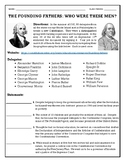 The Founding Fathers:  Who Were They?  (The Constitutional Convention)