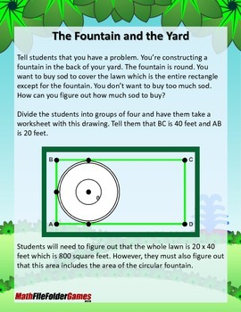 The Fountain and the Yard {Geometry Activity}