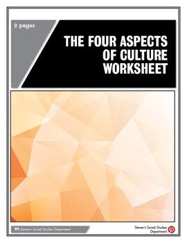 The Four Aspects of Culture Worksheet