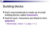 The Four Biological Macromolecules