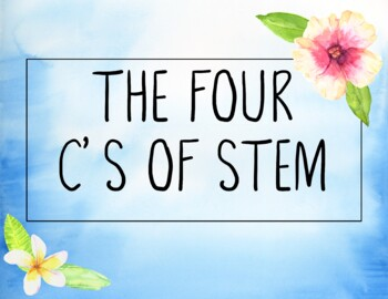 STEM Posters The Four C's