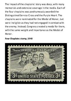The Four Chaplains Handout