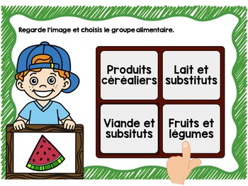The Four Food Groups French Digital Task Cards - BOOM CARDS