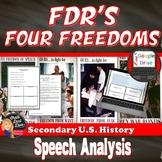 World War II: FDR's  Four Freedoms Speech Analysis Activity