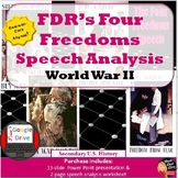 World War II: FDR's  Four Freedoms Speech Analysis Activity