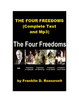 The Four Freedoms Speech, Text and Mp3