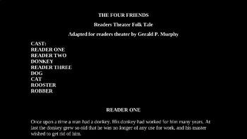 The Four Friends - A Fairy Tale PowerPoint
