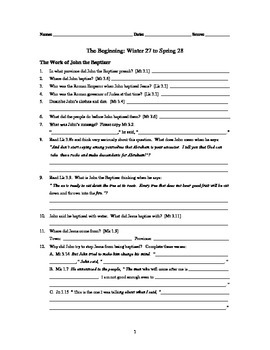 The Four Gospels — A Workbook