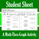 St. Patrick's Day - A Four-Leafed Clover - Math-Then-Graph - Solve 30 Systems