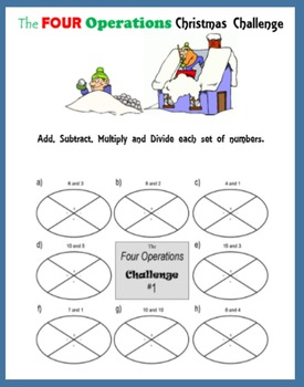 The Four Operations Christmas Challenge (Add, Subtract, Multiply, Divide)