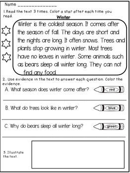 the four seasons reading comprehension science worksheets 2nd grade the best free printable. Black Bedroom Furniture Sets. Home Design Ideas