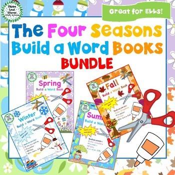 The Four Seasons Build a Word Books BUNDLE