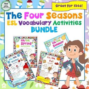 The Four Seasons ESL/ENL Vocabulary Activities BUNDLE