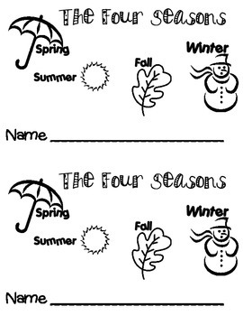 Four Seasons .. Emergent Reader Book ** Perfect for Read to Self