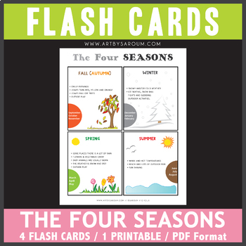 The Four Seasons Flash Cards
