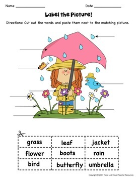 The Four Seasons Label the Picture! BUNDLE - Great for ESL/ENL,Young Learners