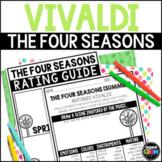 The Four Seasons Listening Sheets, Vivaldi, Spring, Summer, Autumn, Winter