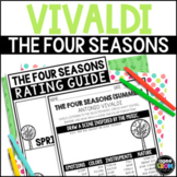 The Four Seasons Listening Sheets, Vivaldi, Spring, Summer, Autumn, Winter